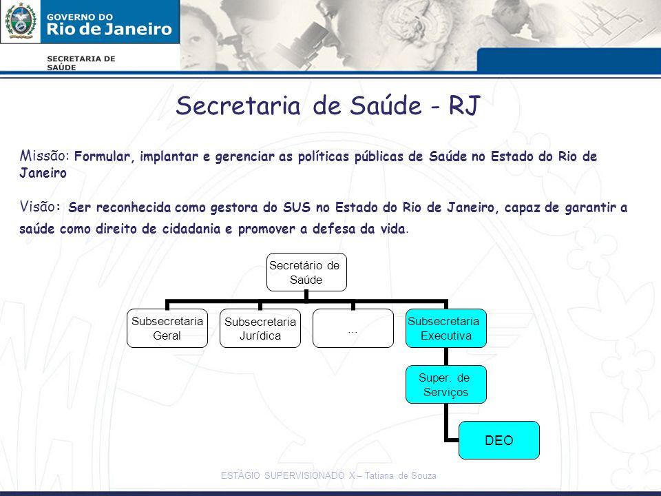 Secretaria de Saúde - RJ