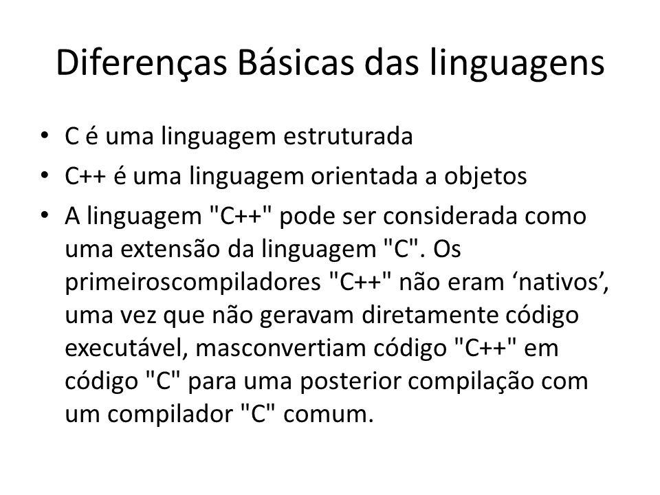 Diferenças Básicas das linguagens
