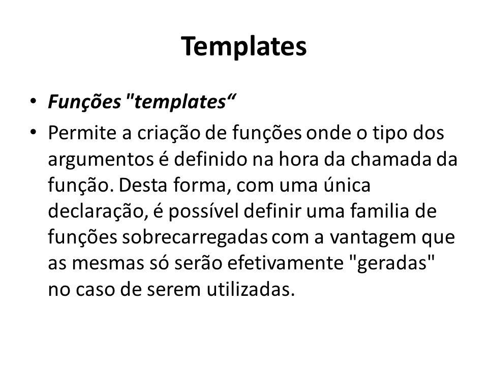 Templates Funções templates