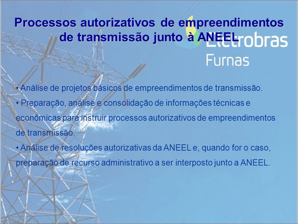 Processos autorizativos de empreendimentos de transmissão junto à ANEEL