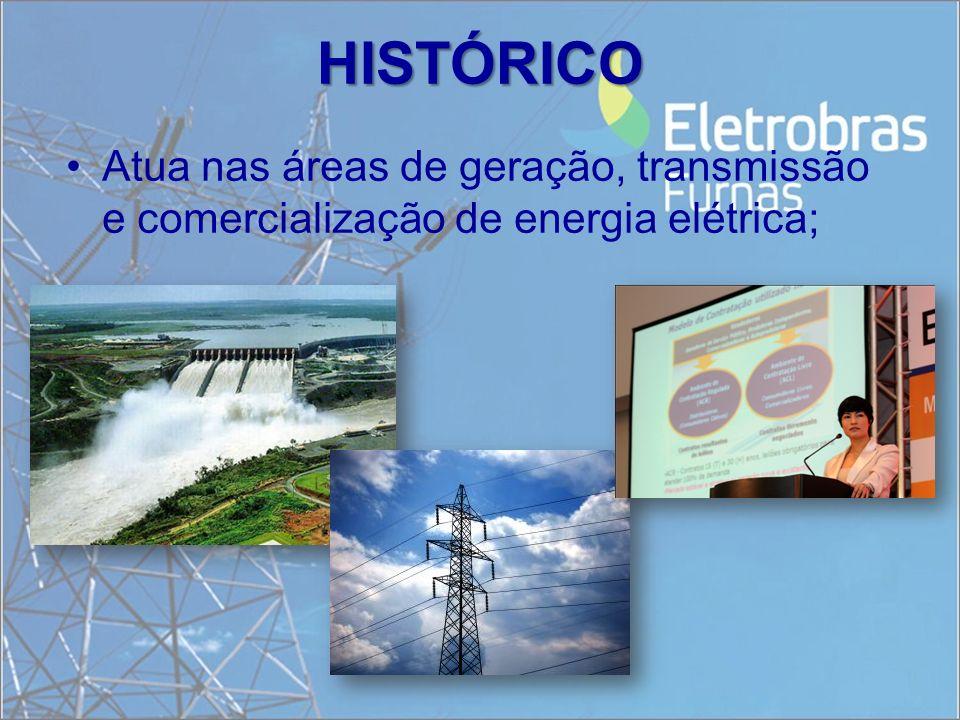HISTÓRICO Atua nas áreas de geração, transmissão e comercialização de energia elétrica;