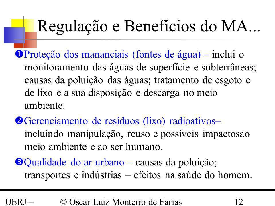 Regulação e Benefícios do MA...