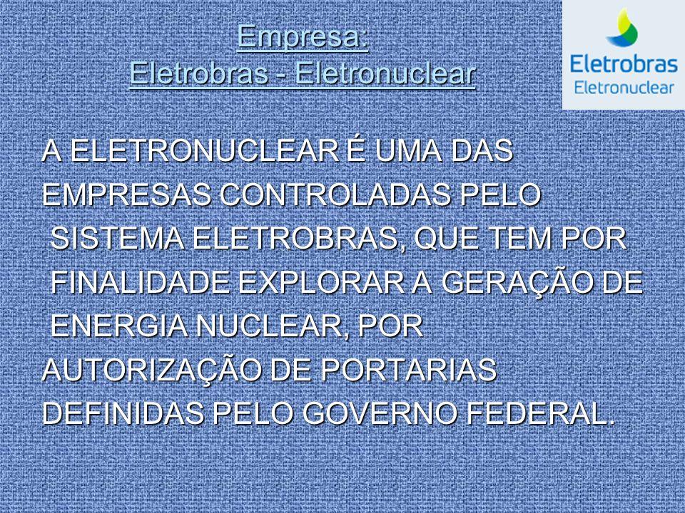 Empresa: Eletrobras - Eletronuclear