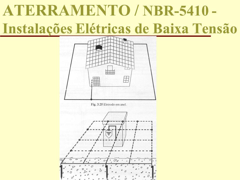 ATERRAMENTO / NBR-5410 - Instalações Elétricas de Baixa Tensão