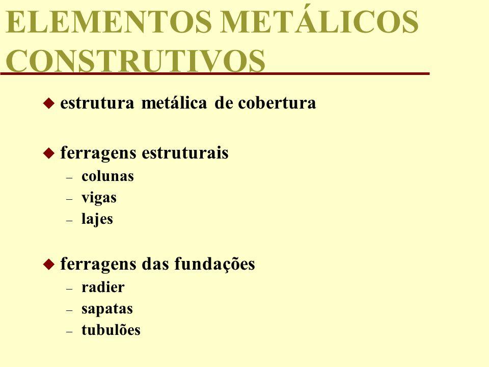 ELEMENTOS METÁLICOS CONSTRUTIVOS