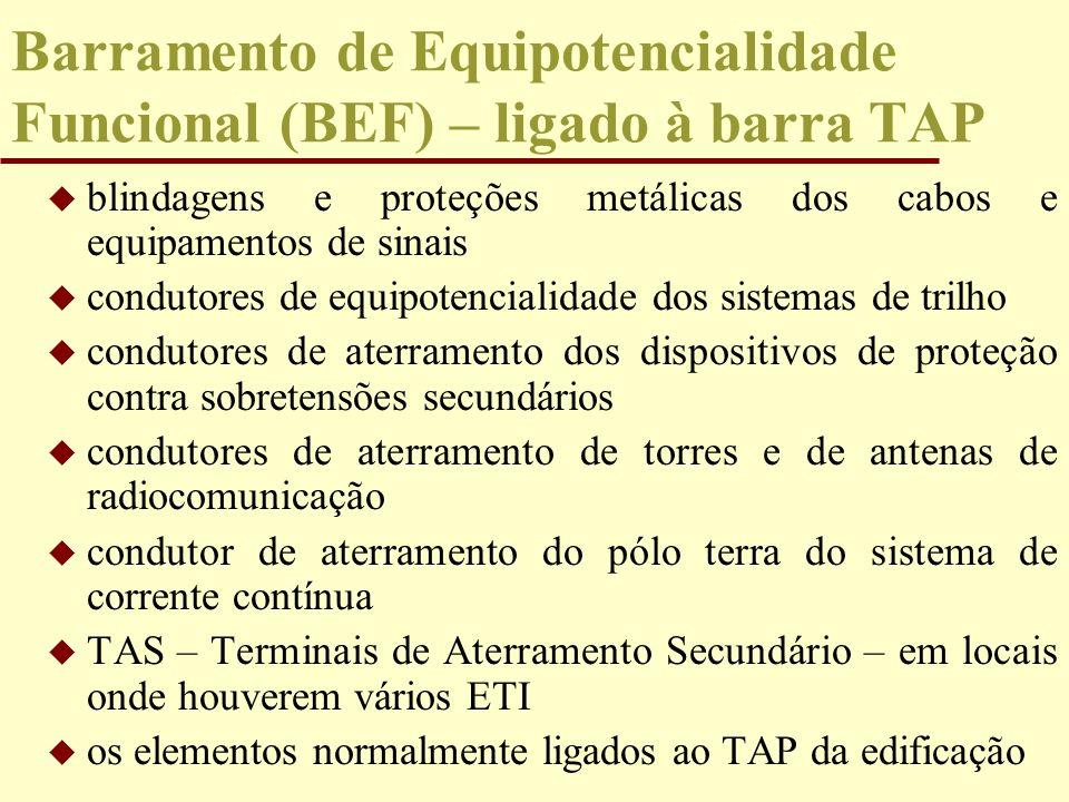 Barramento de Equipotencialidade Funcional (BEF) – ligado à barra TAP