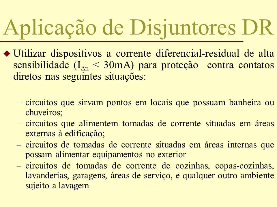 Aplicação de Disjuntores DR