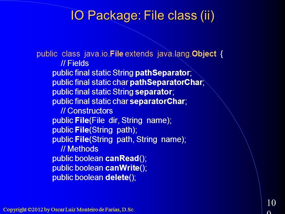 IO Package: File class (ii)