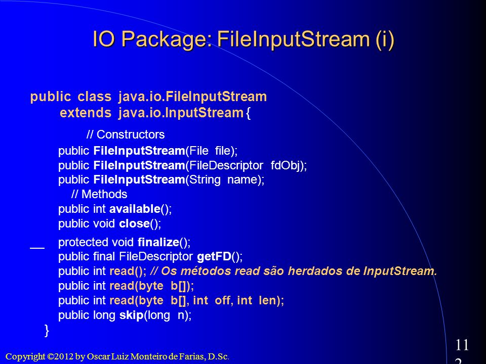 IO Package: FileInputStream (i)‏