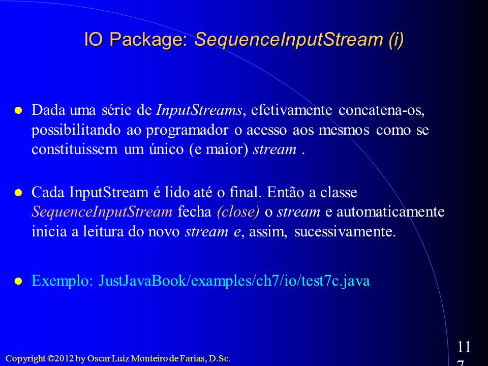 IO Package: SequenceInputStream (i)‏