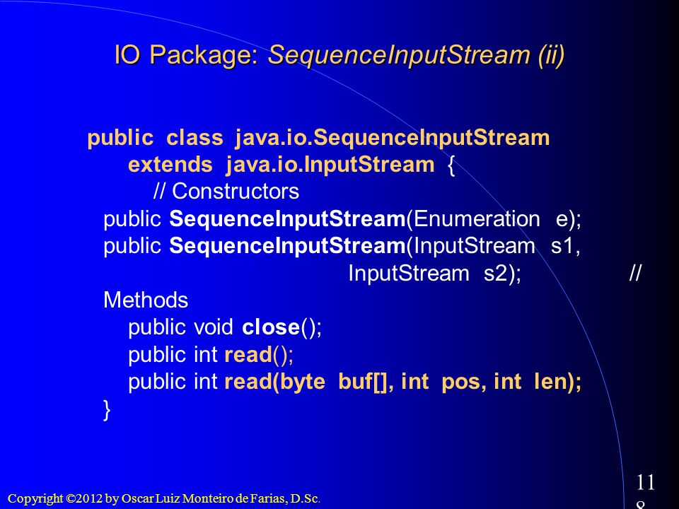 IO Package: SequenceInputStream (ii)‏
