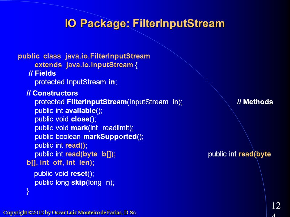 IO Package: FilterInputStream