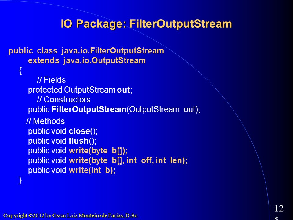 IO Package: FilterOutputStream