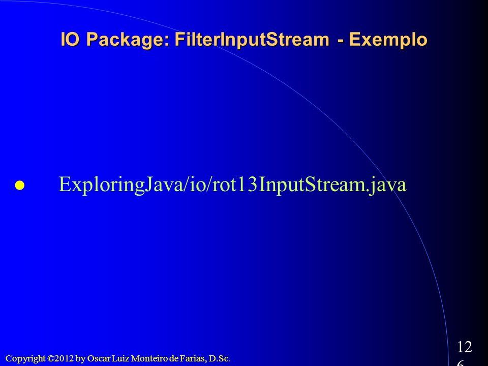 IO Package: FilterInputStream - Exemplo