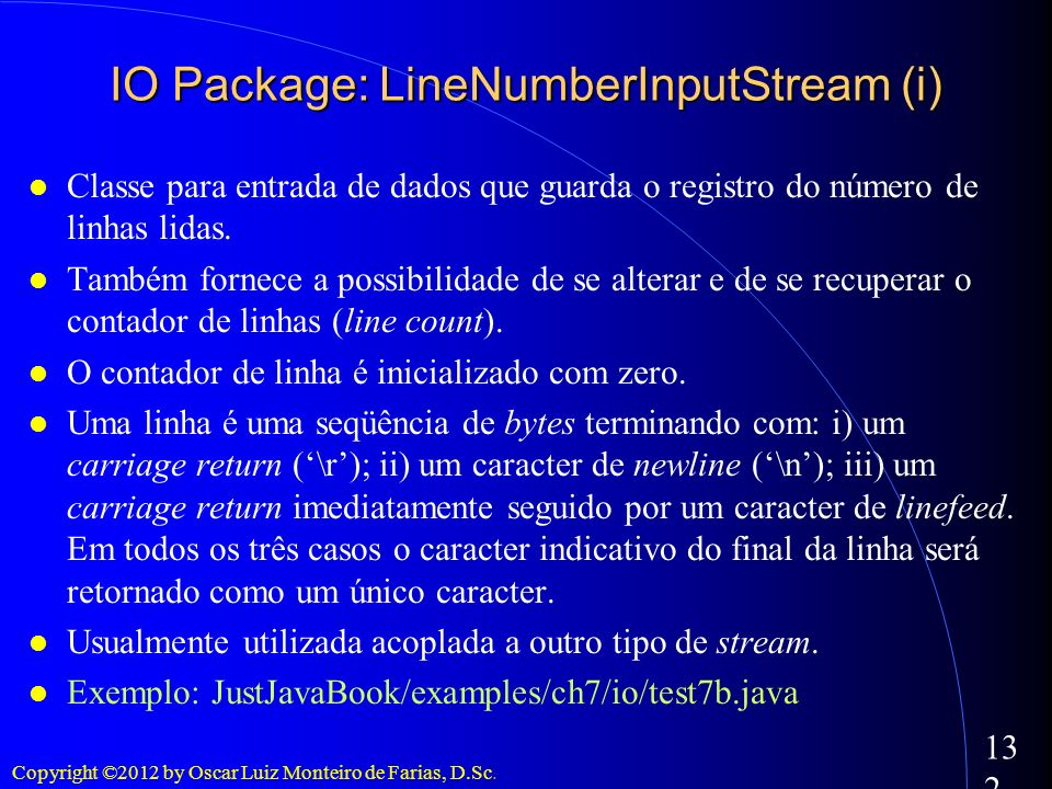 IO Package: LineNumberInputStream (i)‏