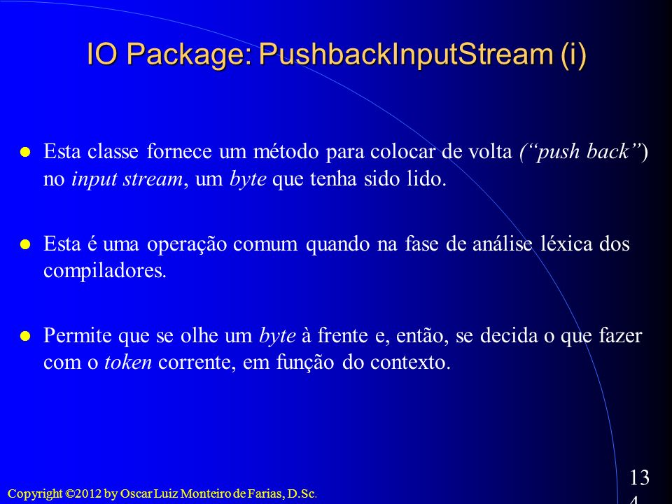 IO Package: PushbackInputStream (i)‏