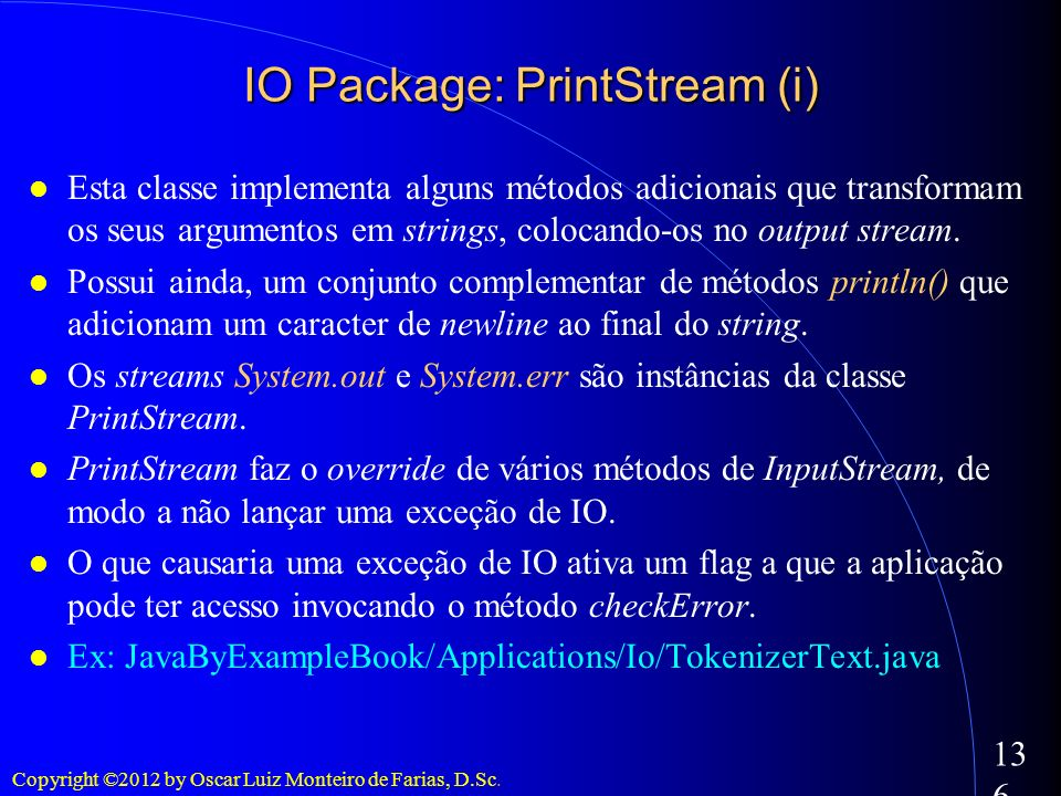 IO Package: PrintStream (i)‏