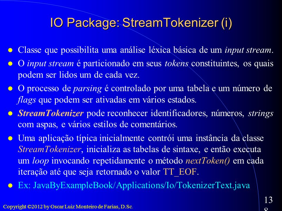 IO Package: StreamTokenizer (i)‏