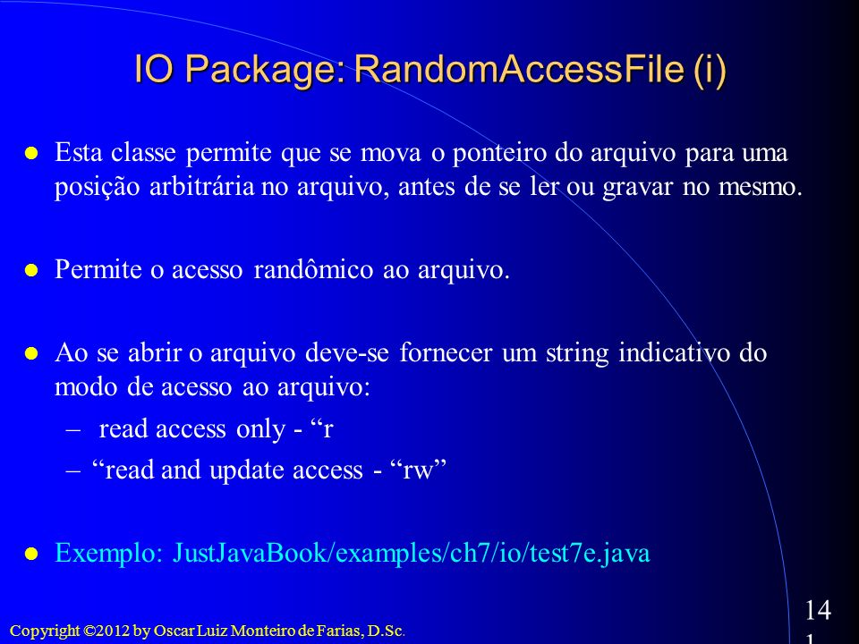 IO Package: RandomAccessFile (i)‏