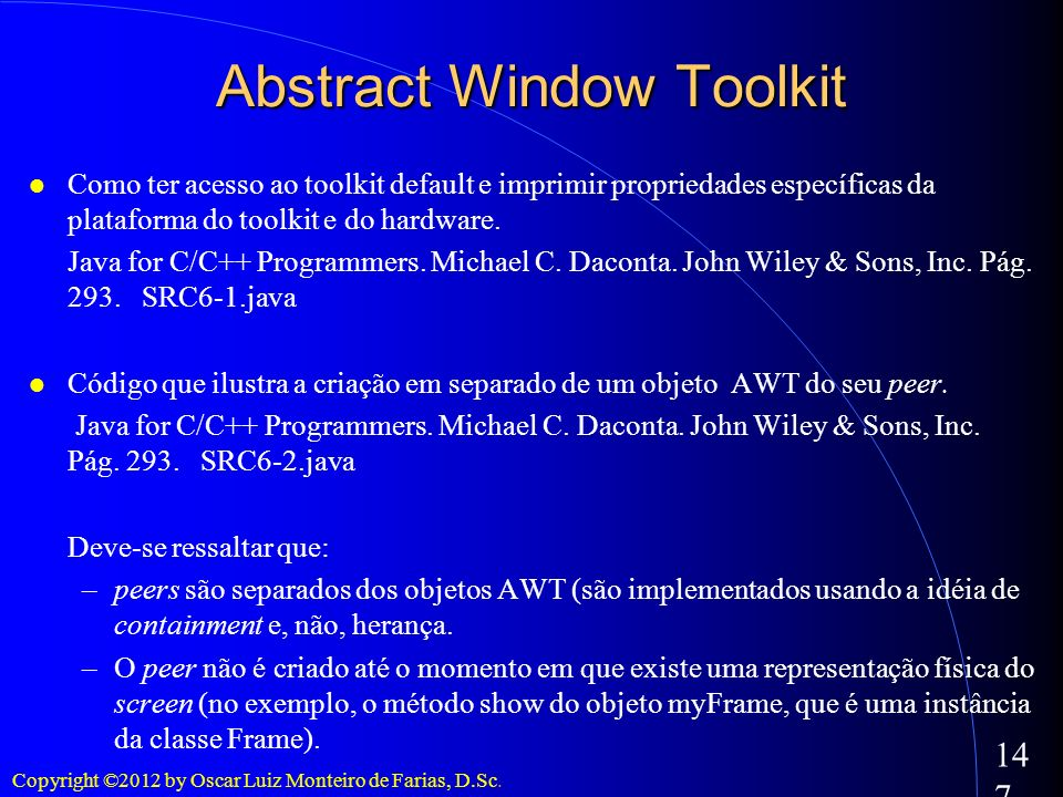 Abstract Window Toolkit