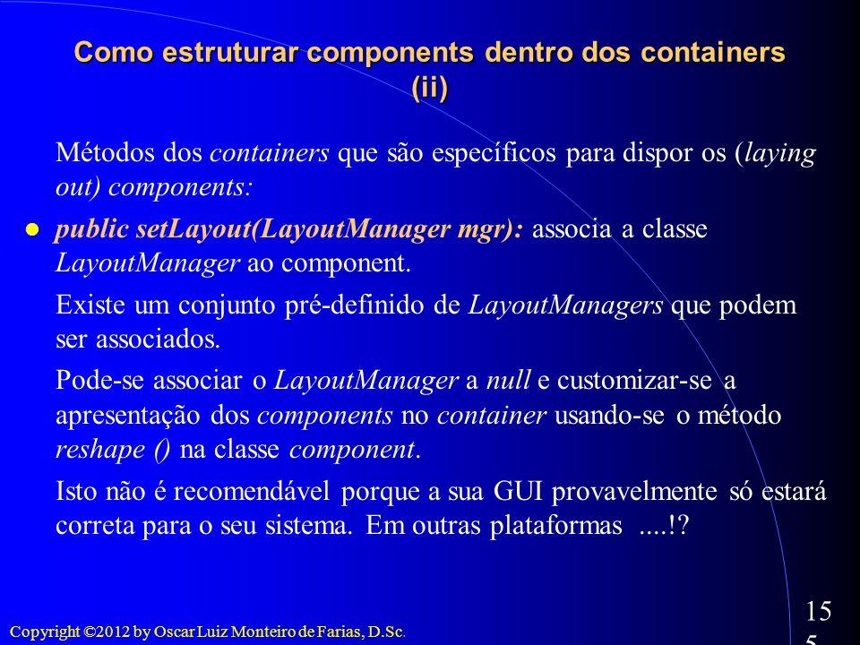 Como estruturar components dentro dos containers (ii)