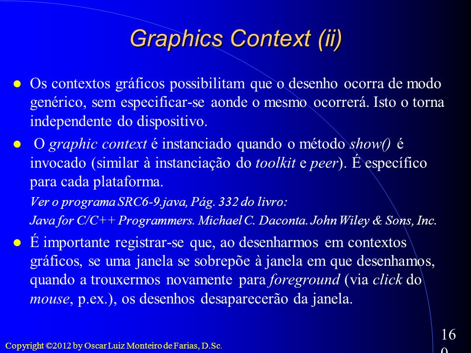 Graphics Context (ii)‏