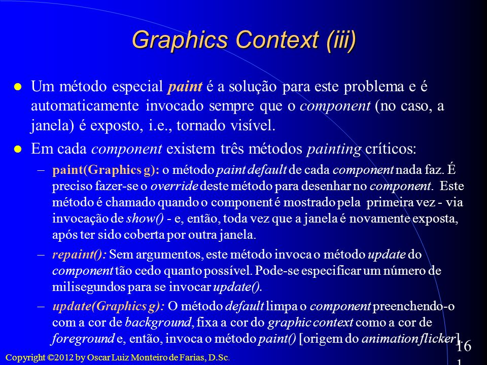 Graphics Context (iii)‏