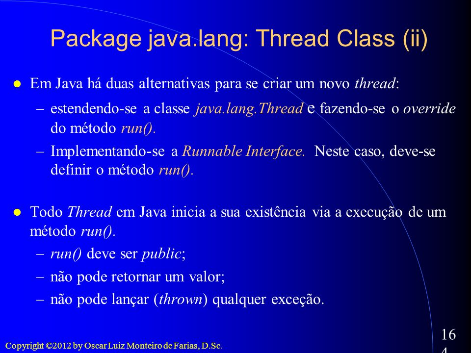 Package java.lang: Thread Class (ii)‏