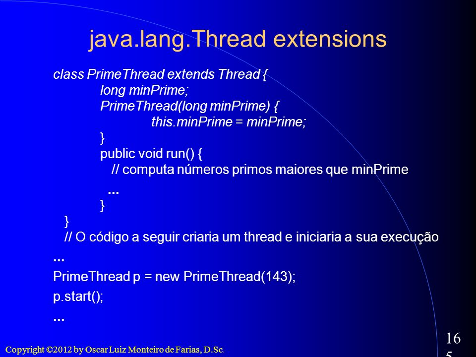 java.lang.Thread extensions