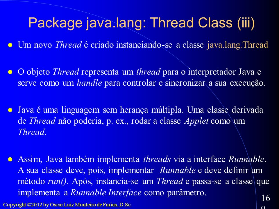 Package java.lang: Thread Class (iii)‏