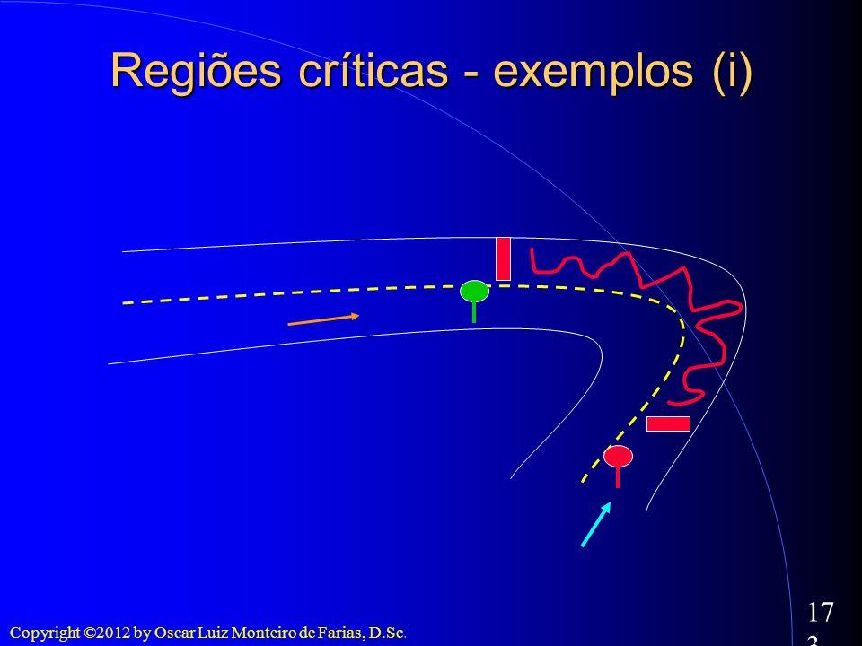Regiões críticas - exemplos (i)
