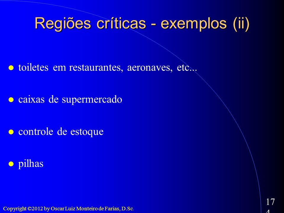 Regiões críticas - exemplos (ii)