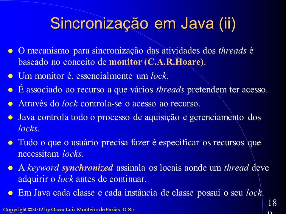 Sincronização em Java (ii)