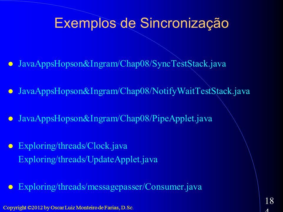 Exemplos de Sincronização