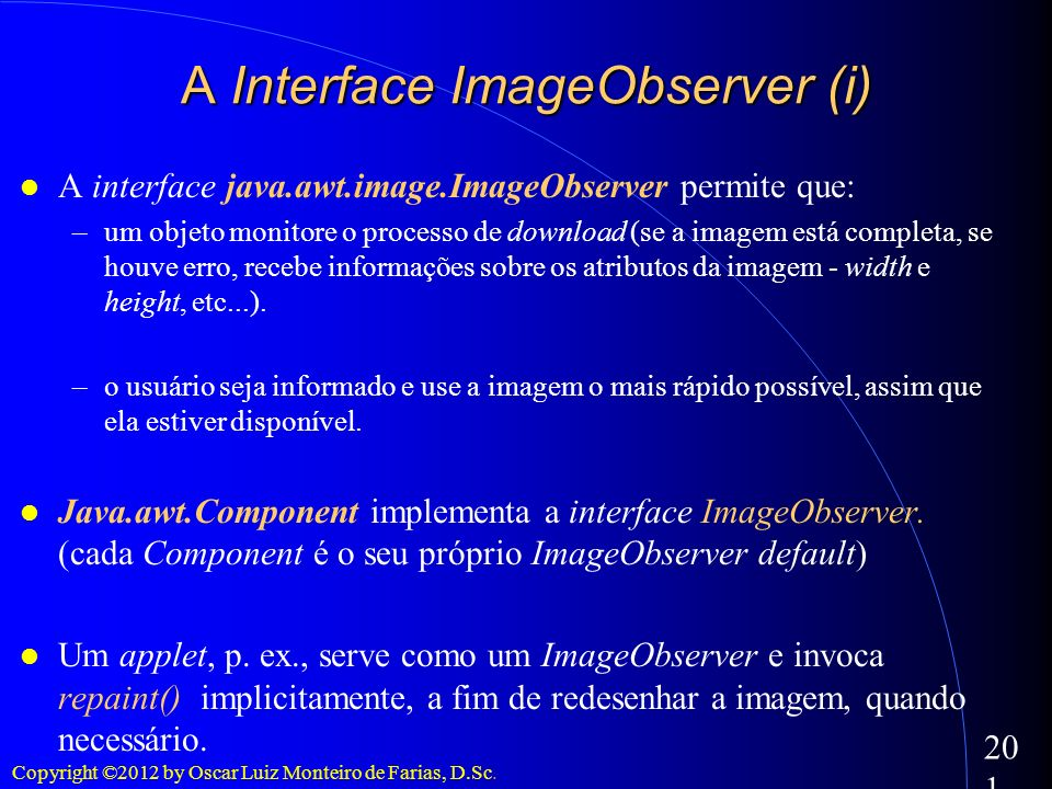 A Interface ImageObserver (i)‏
