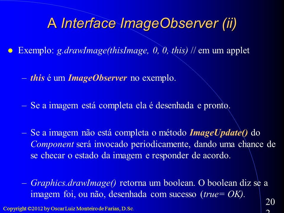 A Interface ImageObserver (ii)‏