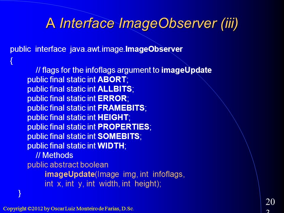 A Interface ImageObserver (iii)‏
