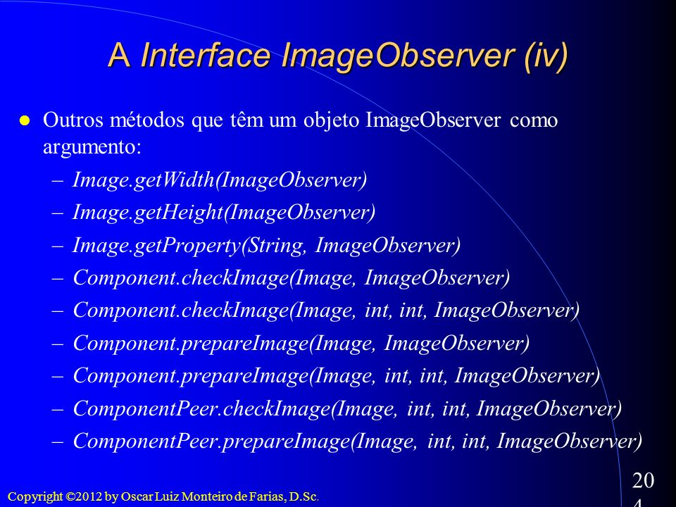 A Interface ImageObserver (iv)‏