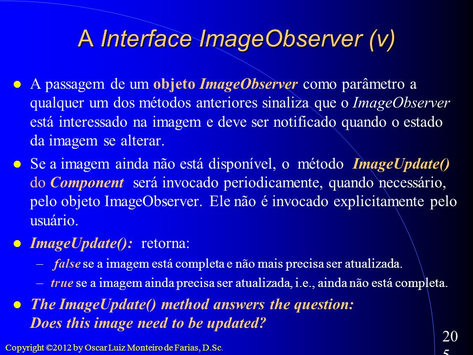 A Interface ImageObserver (v)‏