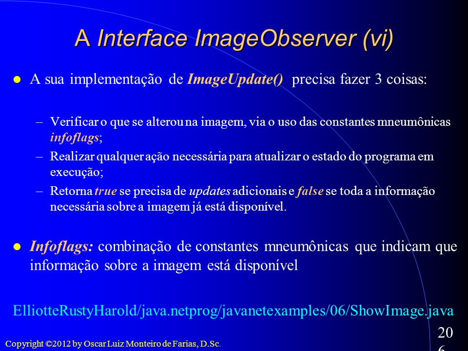 A Interface ImageObserver (vi)‏