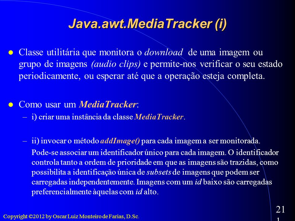 Java.awt.MediaTracker (i)‏