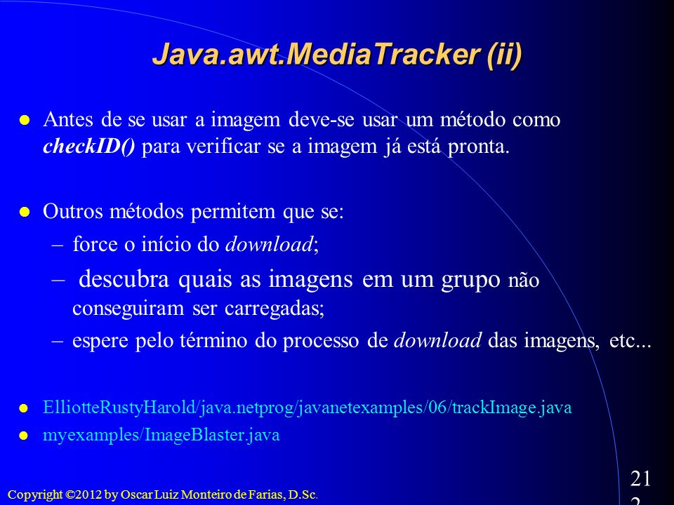 Java.awt.MediaTracker (ii)‏