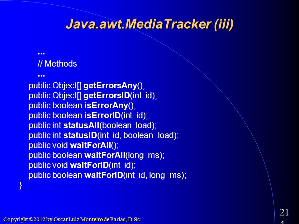 Java.awt.MediaTracker (iii)‏