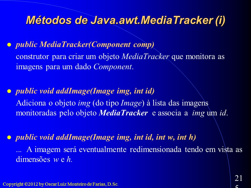 Métodos de Java.awt.MediaTracker (i)‏