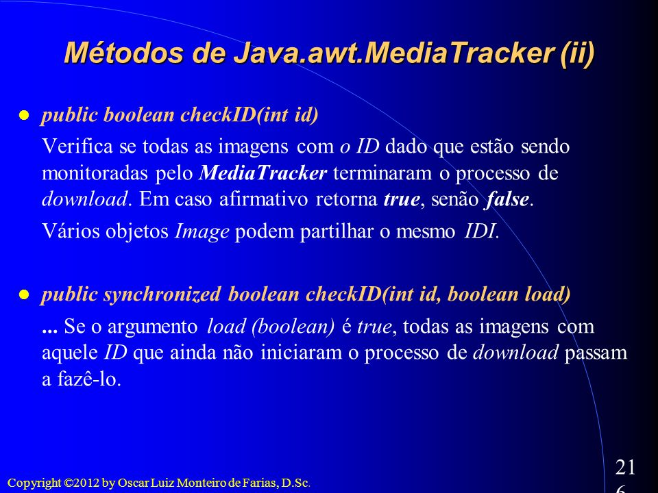 Métodos de Java.awt.MediaTracker (ii)‏