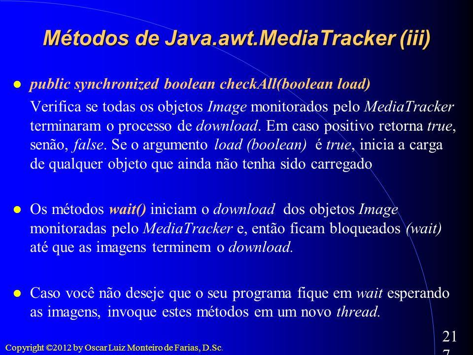 Métodos de Java.awt.MediaTracker (iii)‏