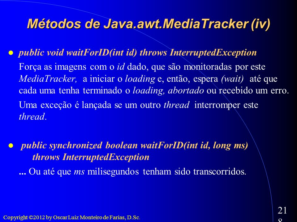 Métodos de Java.awt.MediaTracker (iv)‏