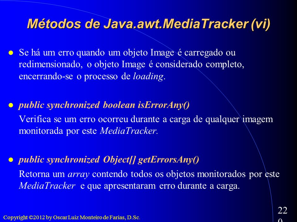 Métodos de Java.awt.MediaTracker (vi)‏