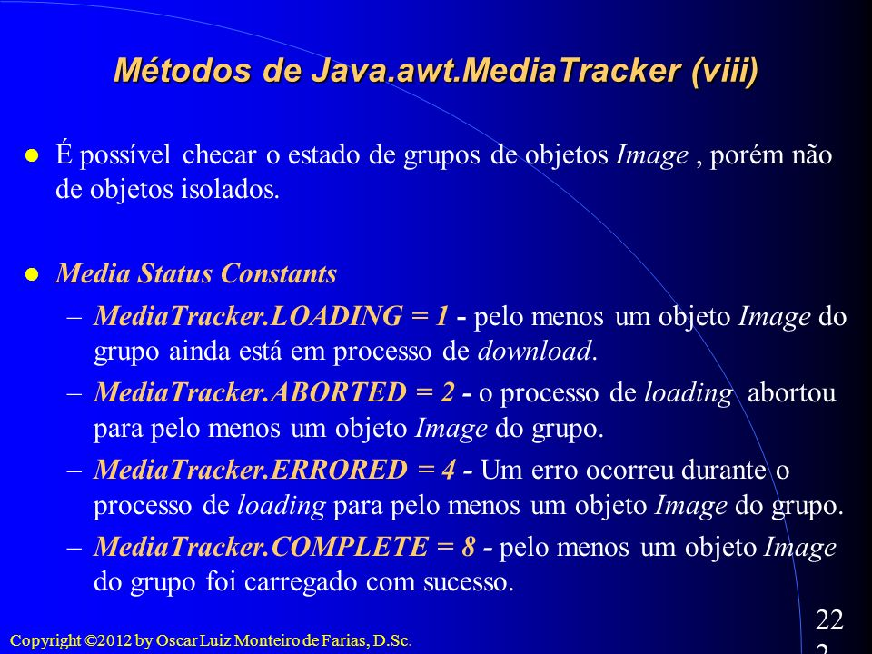 Métodos de Java.awt.MediaTracker (viii)‏