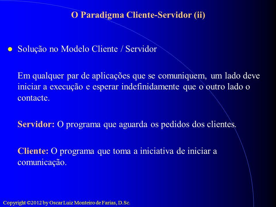 O Paradigma Cliente-Servidor (ii)